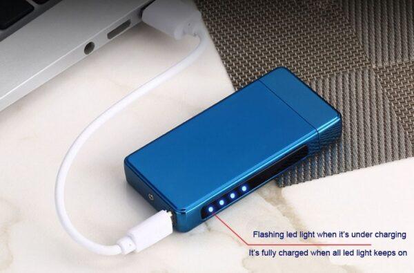 USB elektronski vžigalnik - Dark Knight Blue