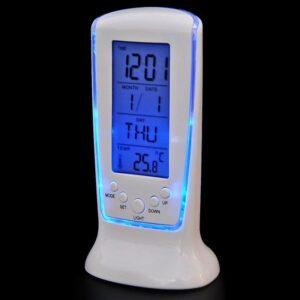 Dekorativni LCD digitalni koledar z modro osvetlitvijo