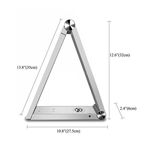 Triangle namizna svetilka - siva