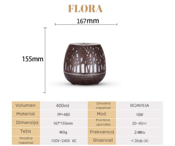 Aroma difuzor za eterična olja - Flora