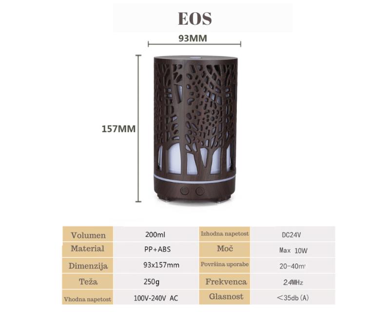 Aroma difuzor za eterična olja - Eos