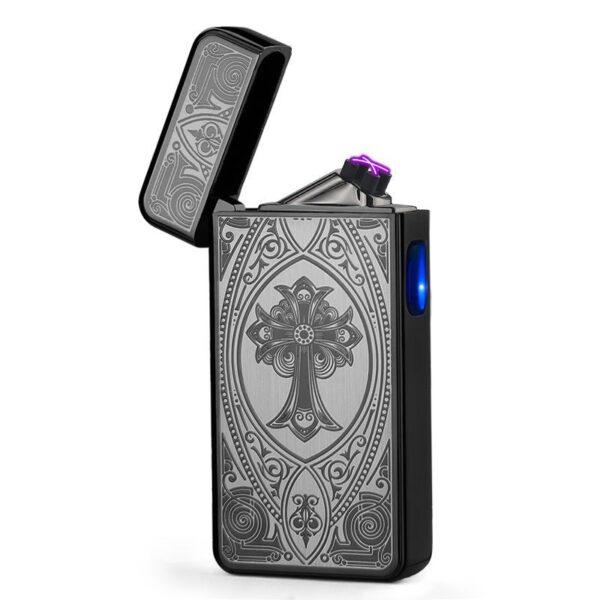 USB plazma elektronski vžigalnik - Silver Fusion